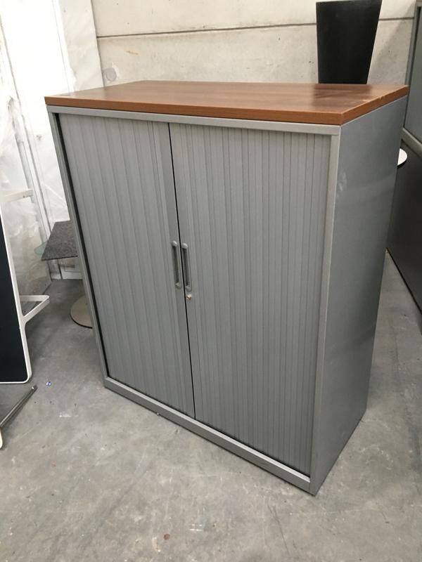 1280mm Triumph silverwalnut tambour cupboard