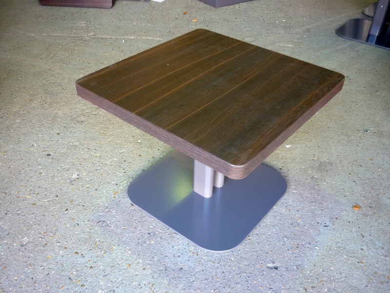 600mm square wenge coffee tables