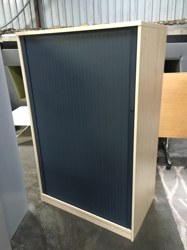 1600mm high maplegraphite tambour cupboard
