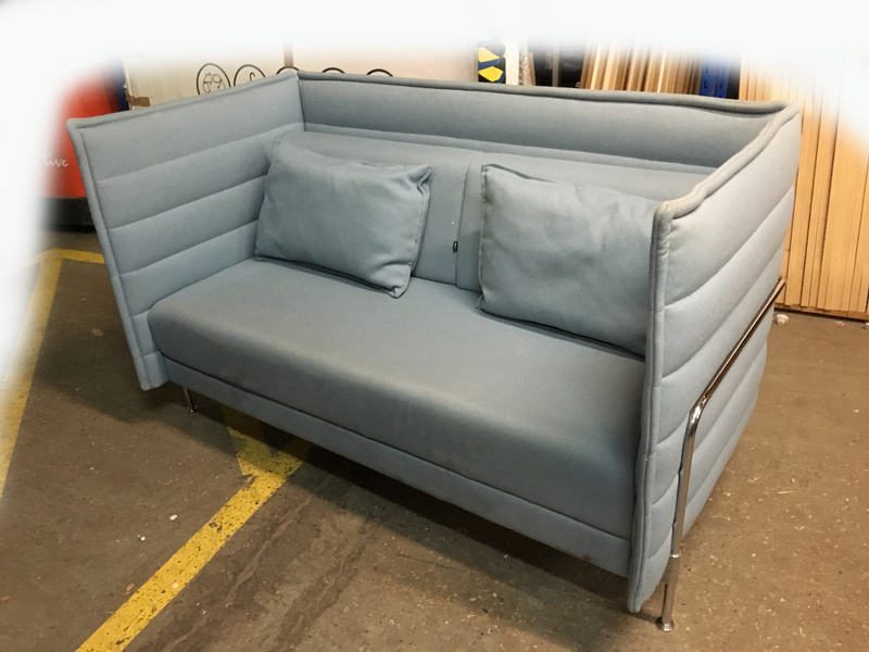 Vitra Alcove Plume ice blue 2 seater sofas