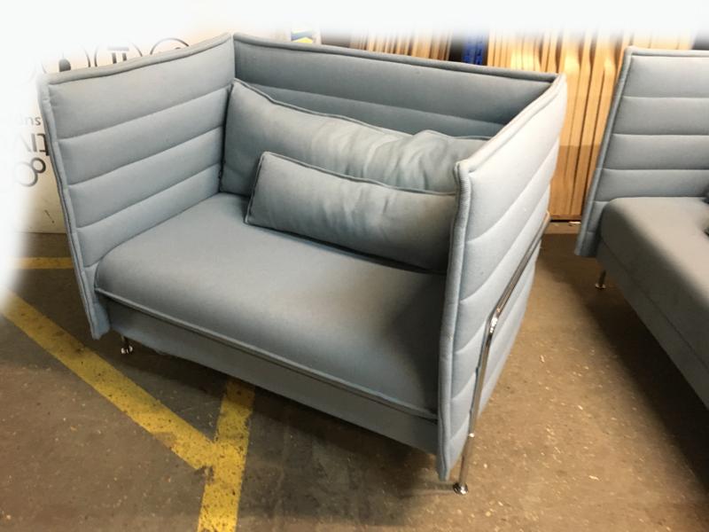 Vitra Alcove Plume ice blue 15 seater