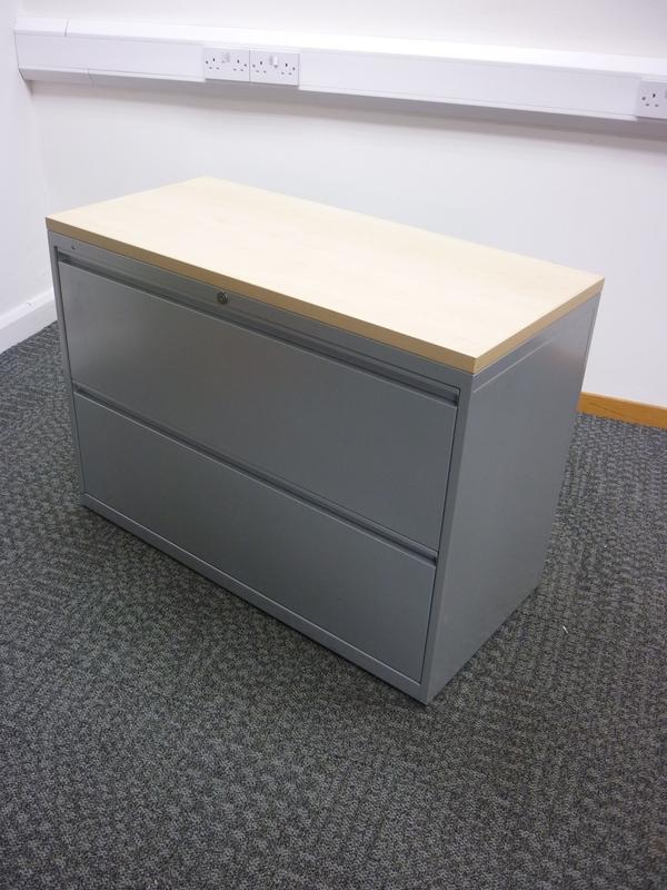 Bisley 2 drawer silvermaple metal side filers