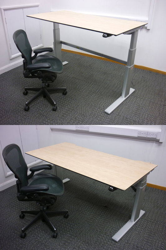1200-1600mm Actiforce VL2 Series electric height adjustable desks, choice of tops