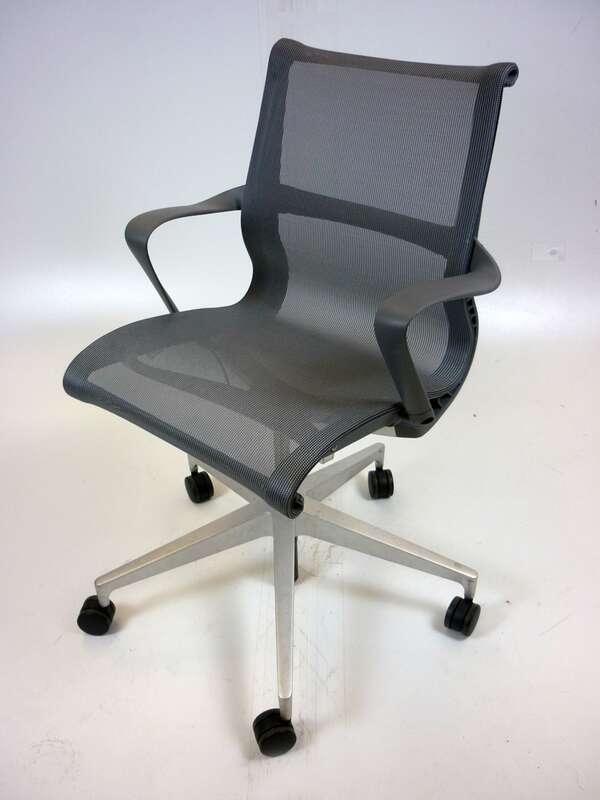 Carbon Herman Miller Setu chairs