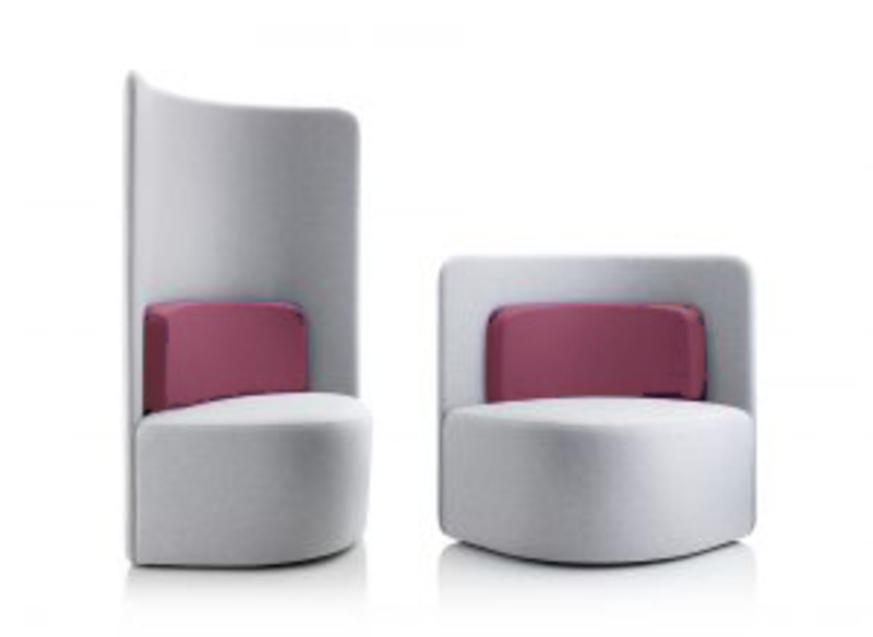 Light grey Boss Design Shuffle chairs