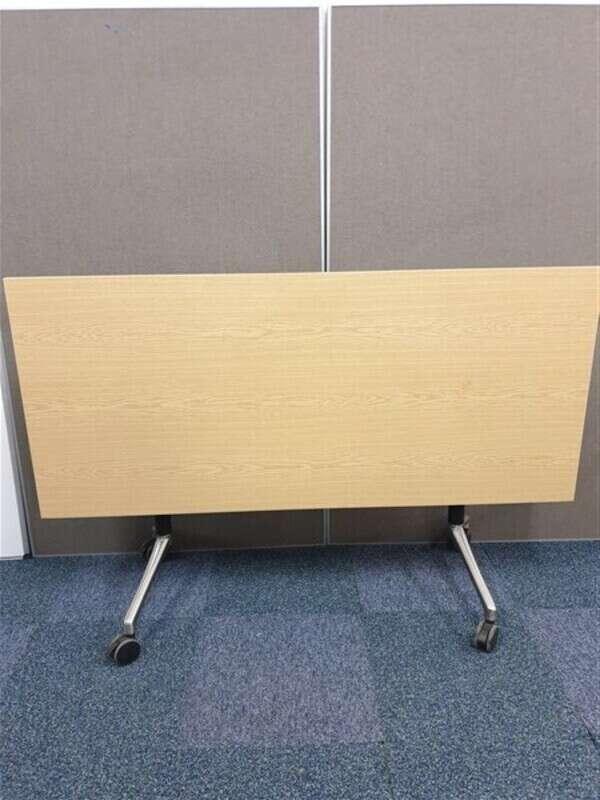 Oak flip top table BlackSteel Frame