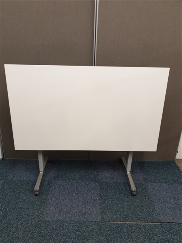 White Top Light Grey Frame Table