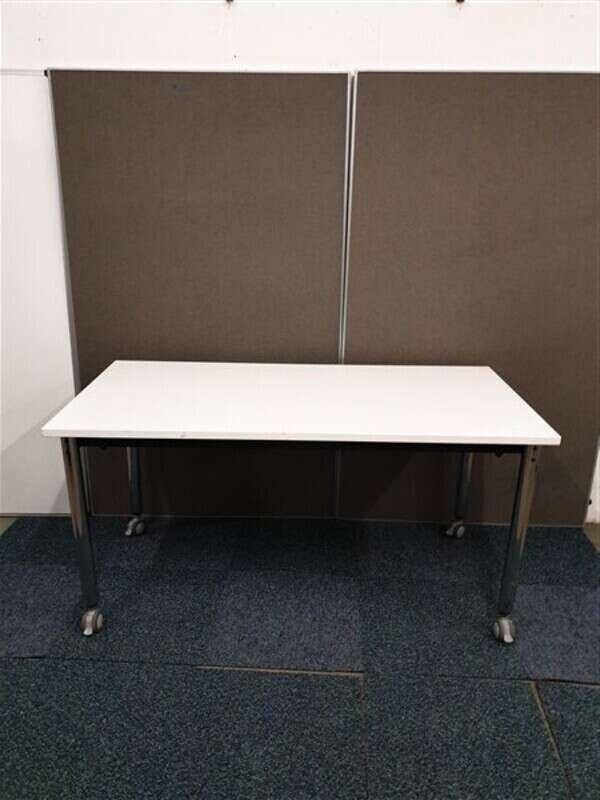 White Top Chrome Legs Table