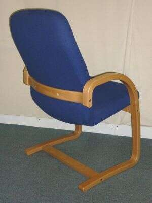 Set of 5 Blue Fabric Wallis Westminster Meeting Chairs