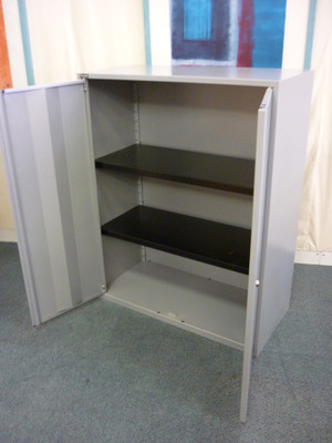 Triumph 1380mm high silver cupboards