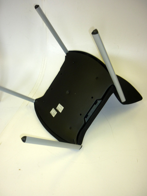Black Senator Trillipse 4 leg stacking chairs with arms