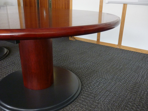 6000 x 1500mm Sven Rosewood D-End boardroom table