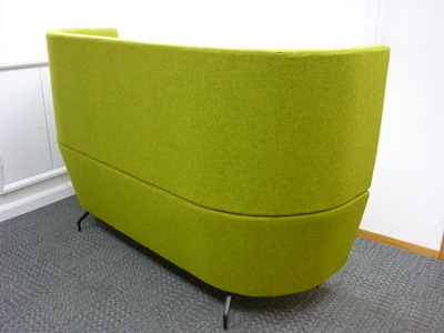 Orangebox CWTCH lime green/red acoustic sofa  (CE)