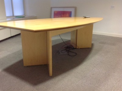 2400 x 1200mm maple barrel shaped table (CE)