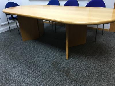 2400x1100mm oak D end table
