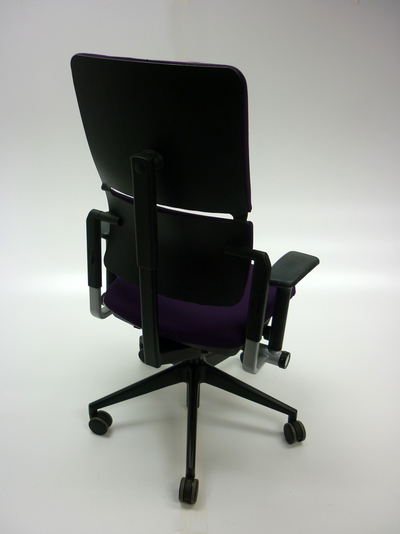Purple Steelcase Please task chair
