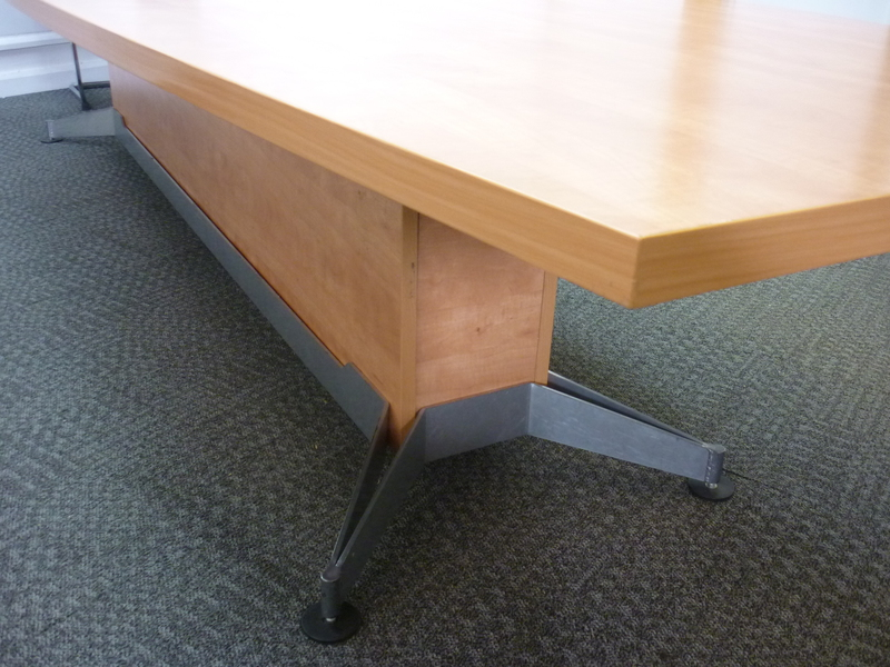 Cherry MFC boat shaped boardroom table (CE)
