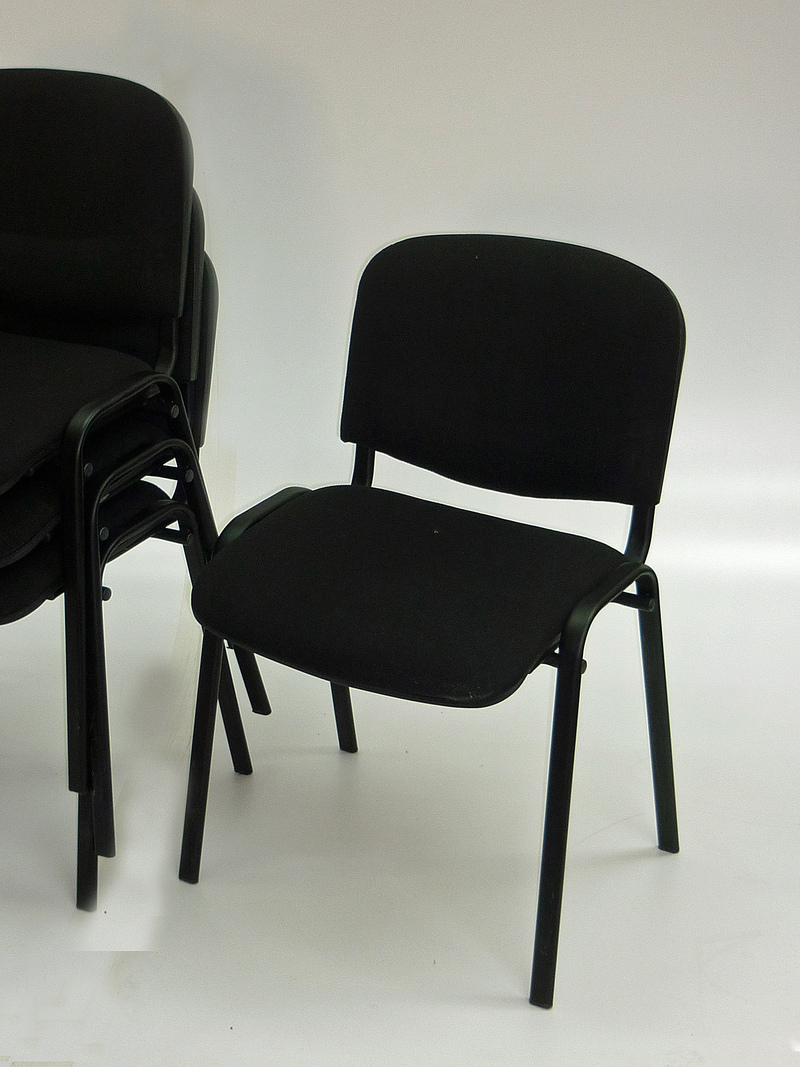 Black stacking Club chair (CE)