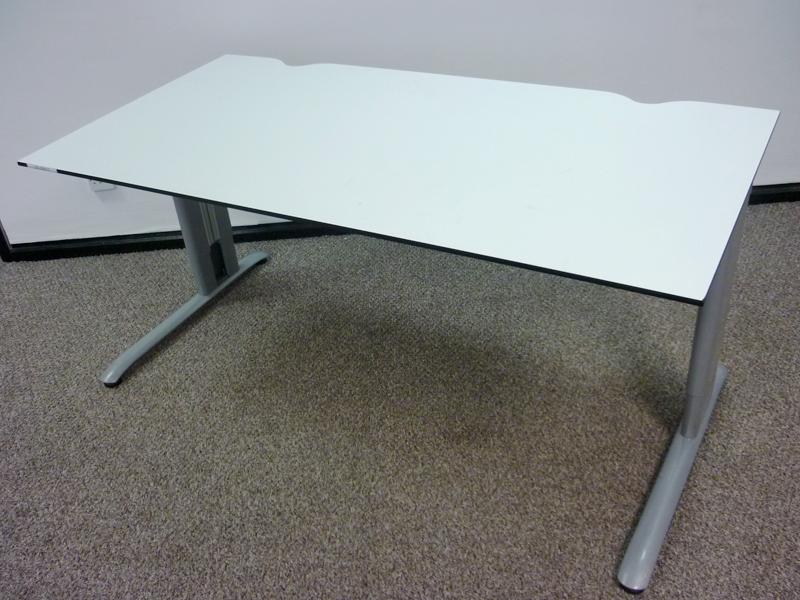 Task white trespa 1600w x 800d mm desks CE