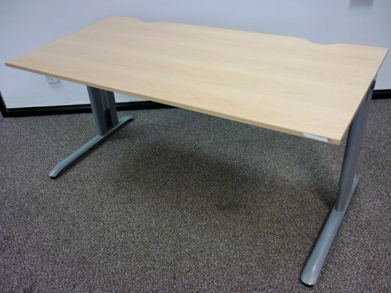 Task maple MFC 1600w x 800d mm desks CE