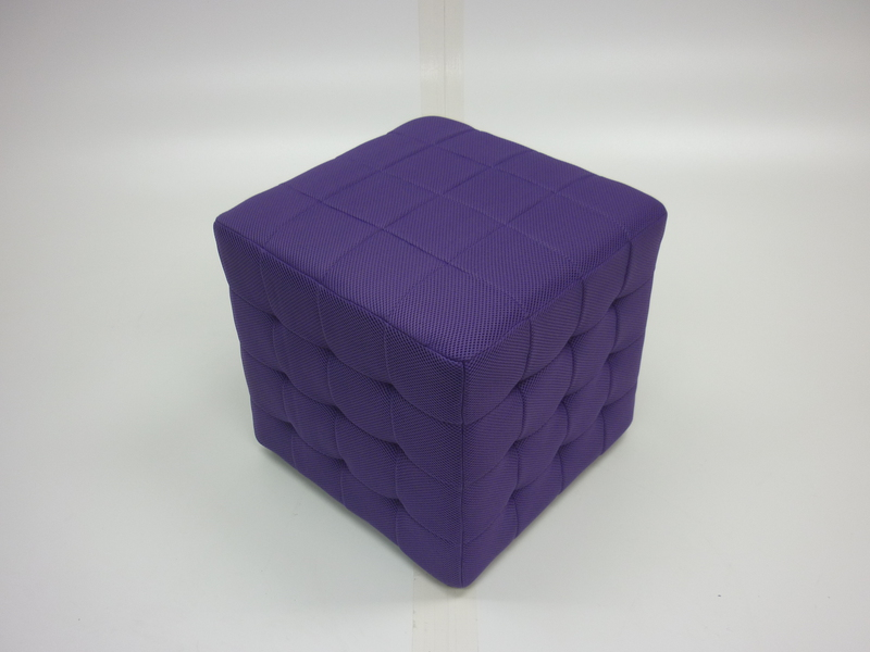 New (in box) purple fabric cube