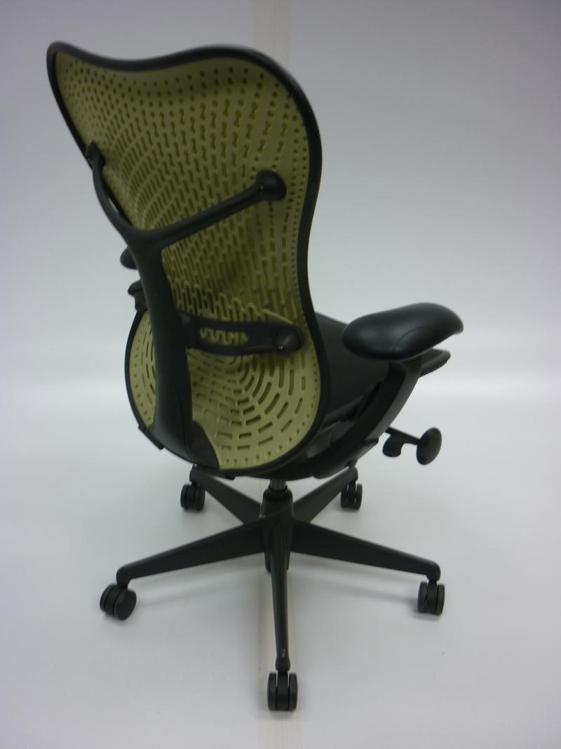 Herman Miller Graphite/lime Mirra task chair CE