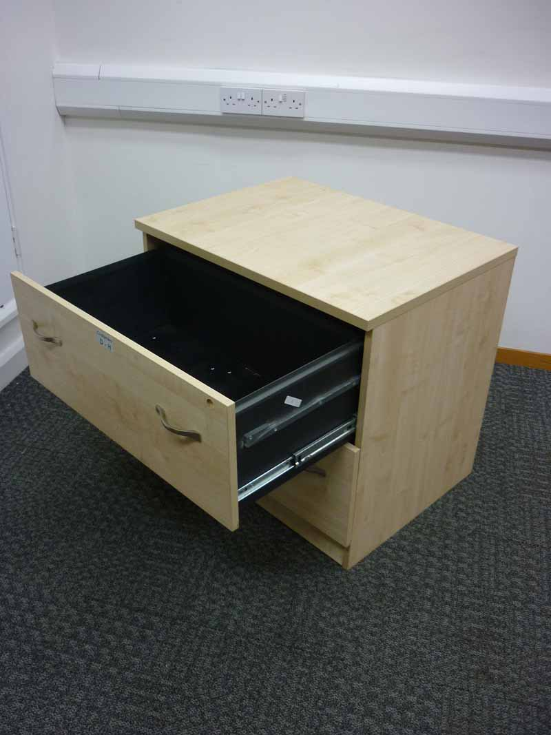 Maple Dams desk high maple 2 drawer side filer