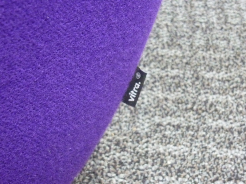 Purple Vitra Amoebe lounge chair