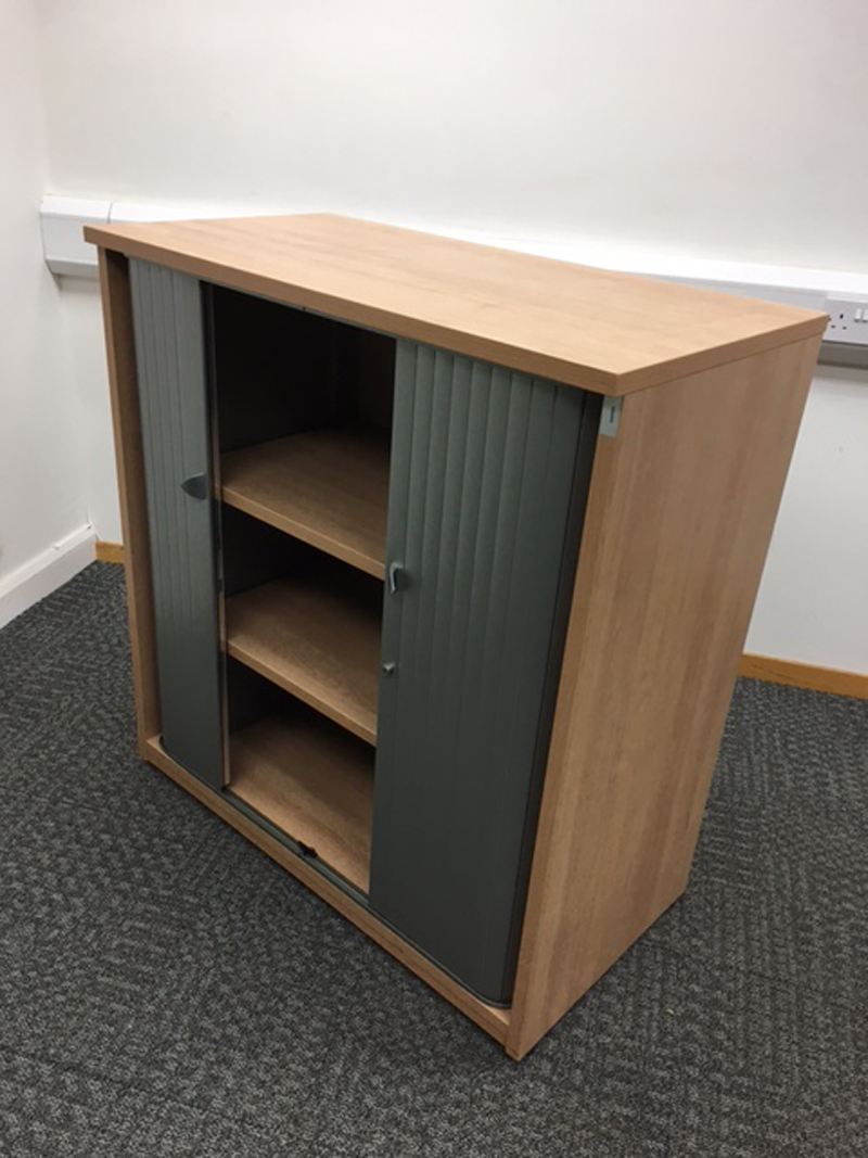1065mm high beech tambour cupboard