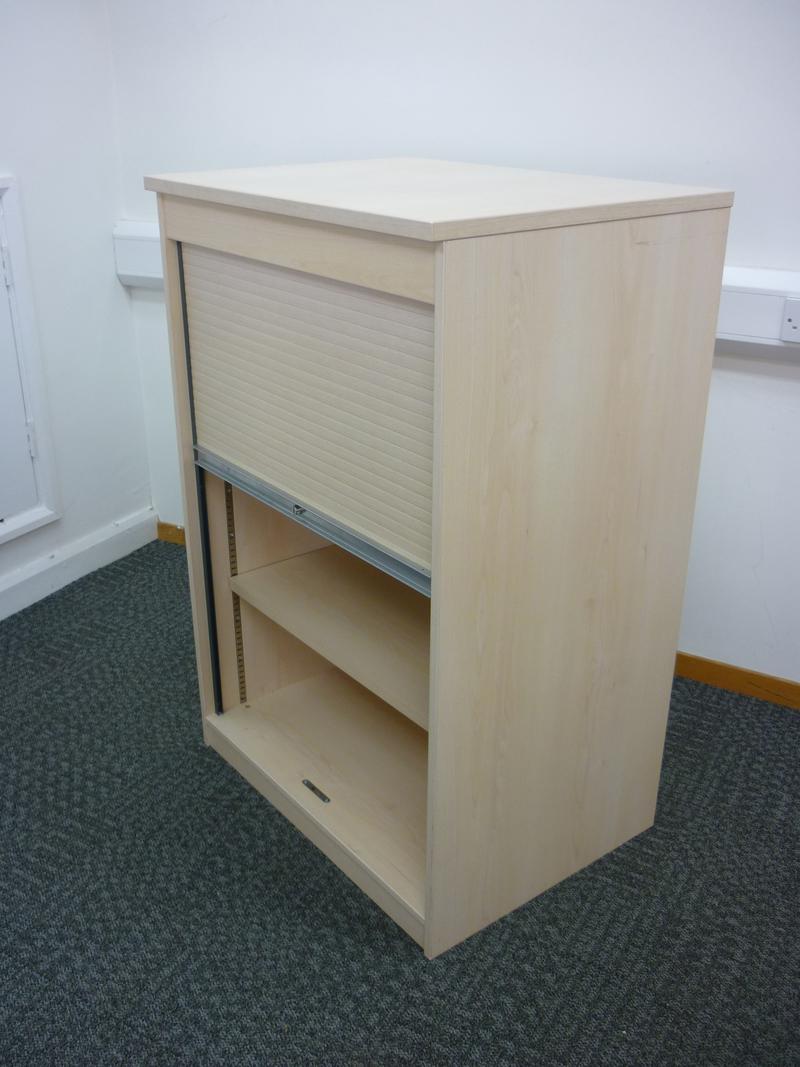 1200h x 800w mm high maple FFC tambour cupboard