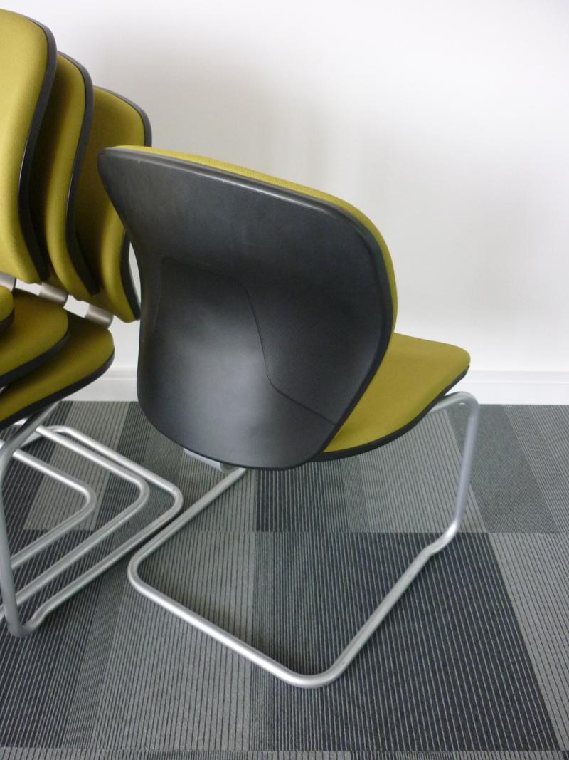 Green Orangebox Joy stackable meeting chairs