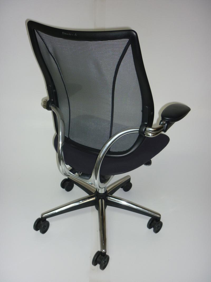 Black mesh Humanscale Liberty task chairs