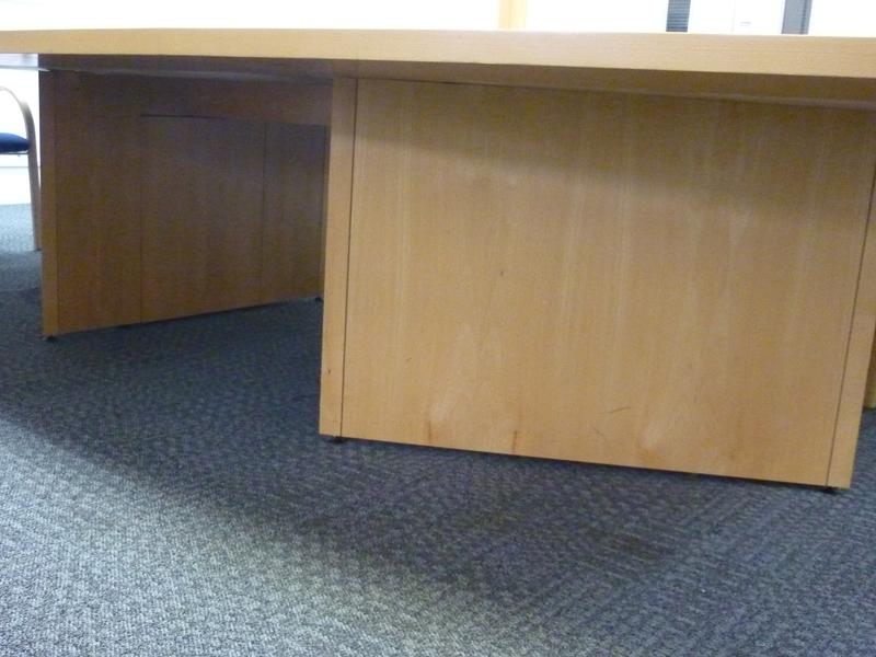 4000x2000/1500mm beech veneer barrel shape boardroom table