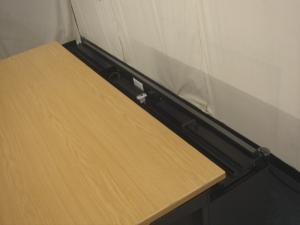 Samas Roneo light oak radial desk was £170 now