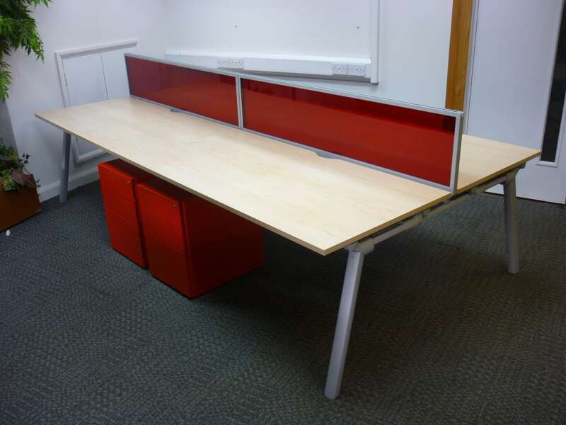Maple 1600mm Senator Crossover bench desking, per position