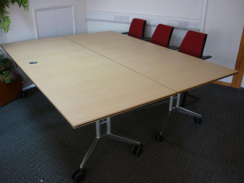 2800 x 900 mm Wilkhahn Confair beech folding tables