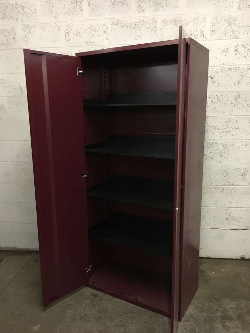 1750mm high Office Speciality double door cupboard