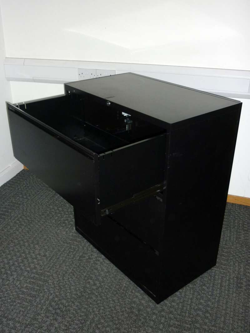 Black 3 drawer side filer
