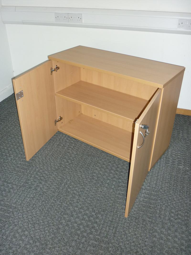 Beech double door cupboard