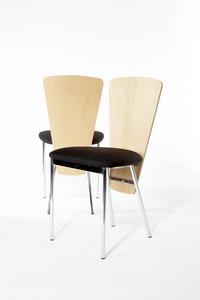 20 x Black/beech Allermuir Wafer café chair from