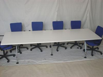 Vitra white boardroom table