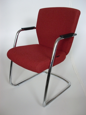 Chrome frame meeting chairs