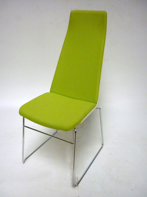 Allermuir CF2 Confer lime green high back chair (CE)