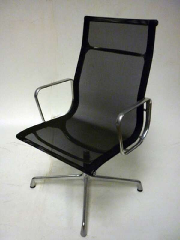 black mesh high back meeting chair