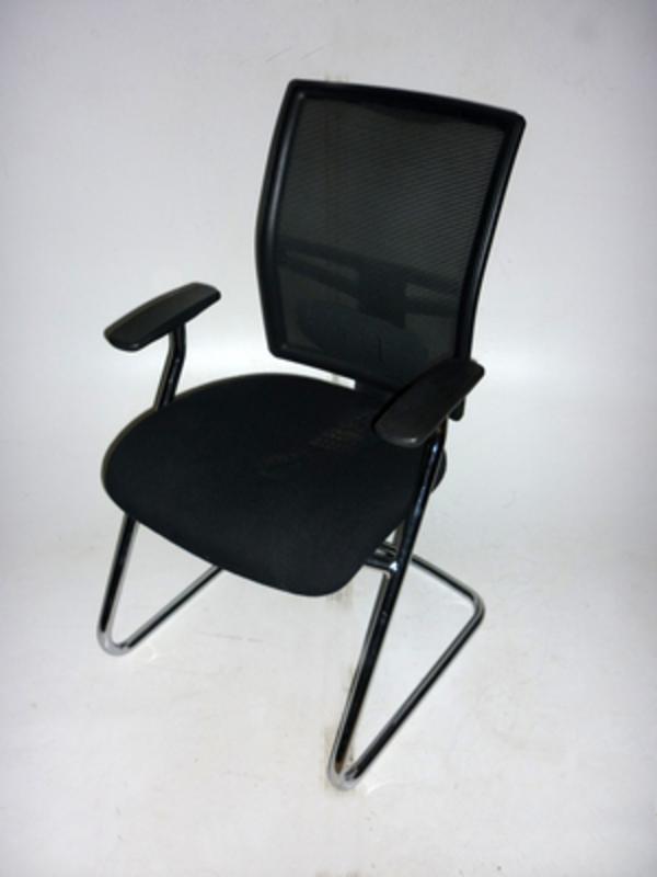 RM22C mesh back black meeting chair