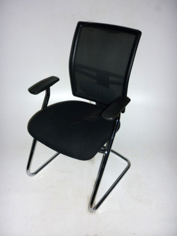 RM22C mesh back black meeting chair