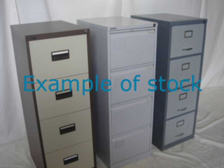 Metal filing cabinets from