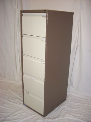 Bisley 5 drawer filing cabinet