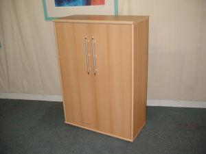 Beech bookcase cupboard unit