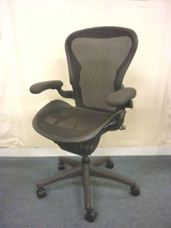 Herman Miller Aeron chairs in black